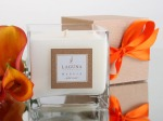 Tangerine bow package & flora 4796